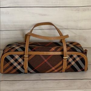 Burberry Blue label Nova Check Papillon Wool Bag